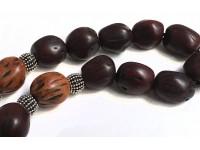 Αρωματικό κομπολόι από μοσχοκάρυδο σκούρο μπορντό