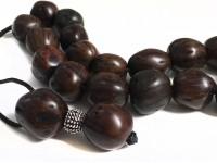Αρωματικό κομπολόι από μοσχοκάρυδο λαδί χρώμα