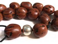 Αρωματικό κομπολόι από μοσχοκάρυδο φυσικό χρώμα