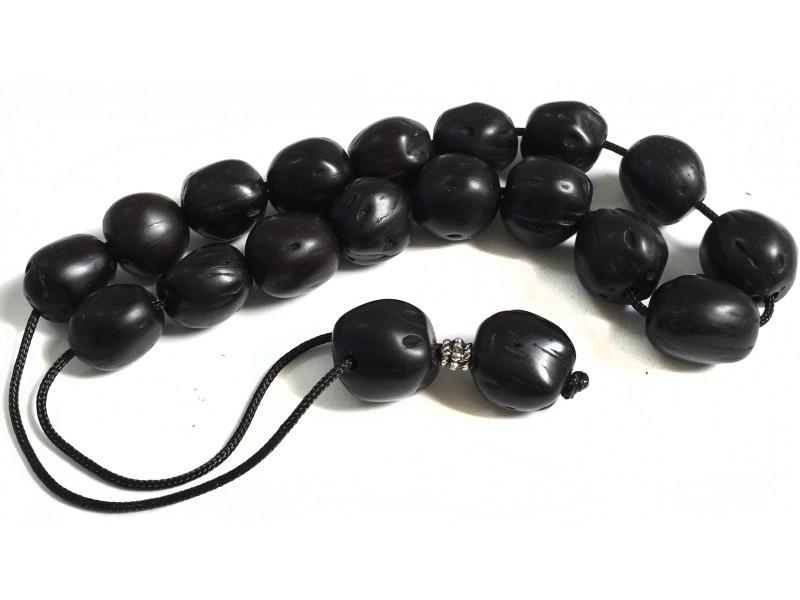 Αρωματικό κομπολόι από μοσχοκάρυδο μαύρο χρώμα
