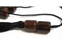 Κομπολόι από Οψιδιανό καφέ μαύρο