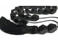 Κομπολόι από Οψιδιανό πολυγωνικό μαύρο