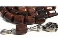 Κομπολόι από Οψιδιανό καφέ 33 χάντρες