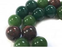 Κομπολόι από Αχάτη πράσινο και Ιάσπις