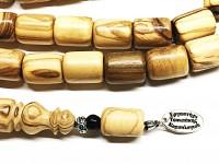 Κομπολόι από Ελληνικό  ξύλο ελιάς 33 χάντρες