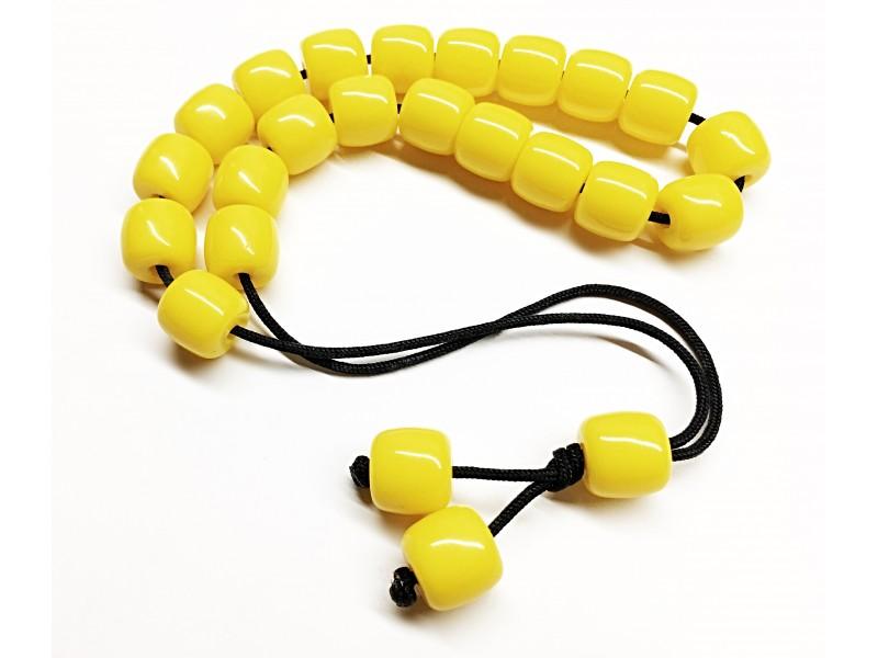 Κομπολόι από κίτρινη ρητίνη