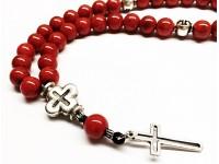 Προσευχητάρι 33 χάντρες από κόκκινο Νεφρίτη
