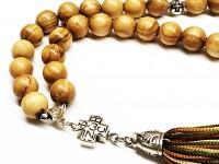 Προσευχητάρι 33 χάντρες από Ξυλο ελιάς