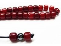 Κομπολόι από Ρητίνη σκούρα κόκκινη