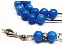 Κομπολόι από μπλε Αχάτη με 33 χάντρες