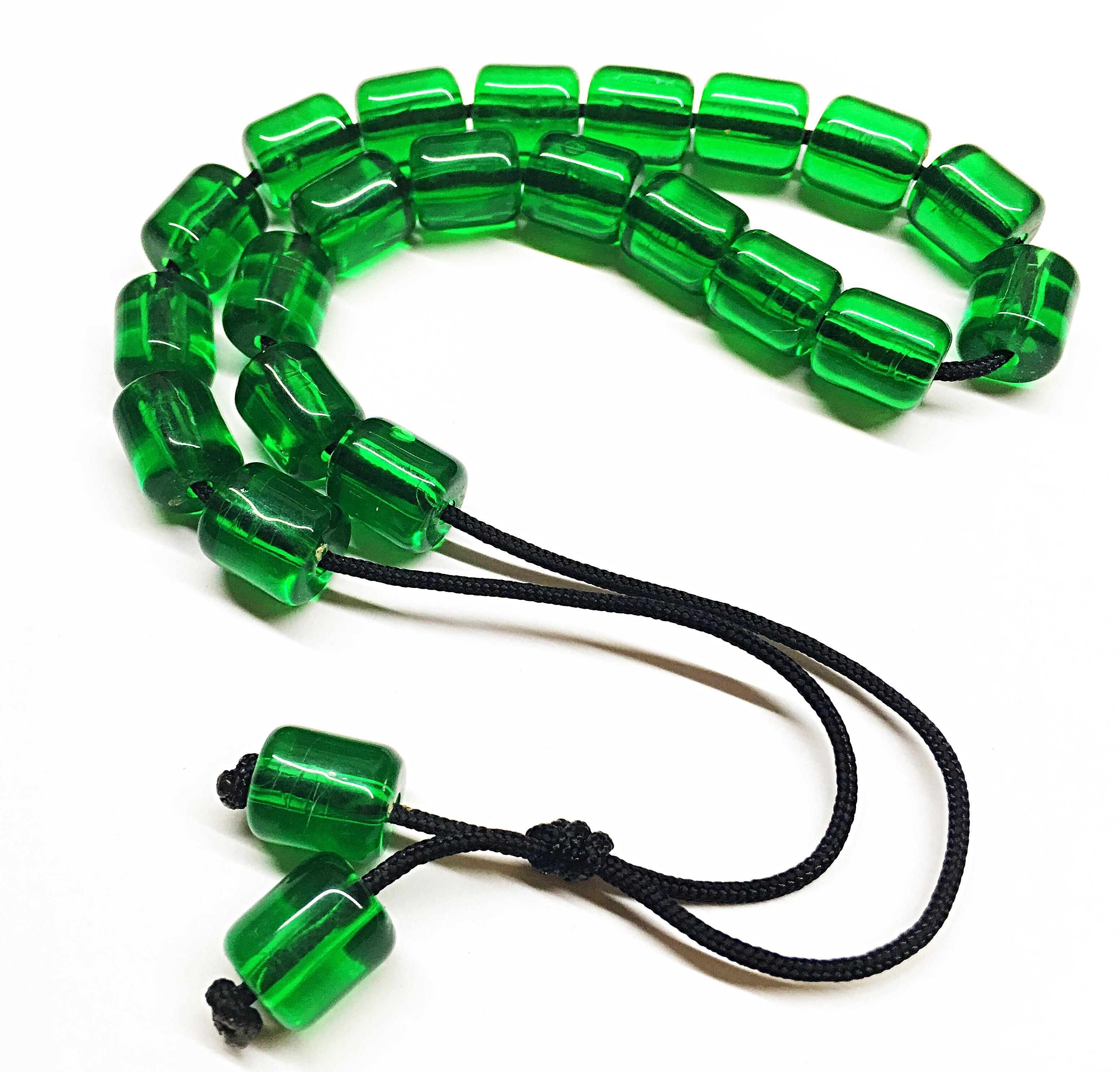 Χειροποίητο Κομπολόι από ρητίνη πράσινη